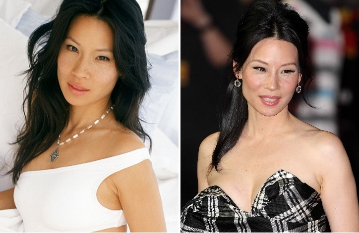 Lucy Liu Plastic Surgery Before And After Celebrity Sizes